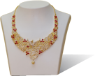 buy one gram gold necklace online