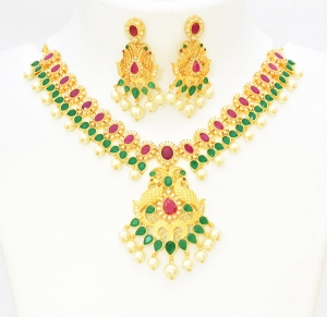 Buy One Gram Designer Jewelry Online Kerala, Gold Ornaments Supplier